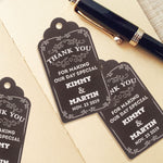 Personalized Blackboard White Ink Printing Thank You for Making Our Day Special Wedding Favor Gift Tags
