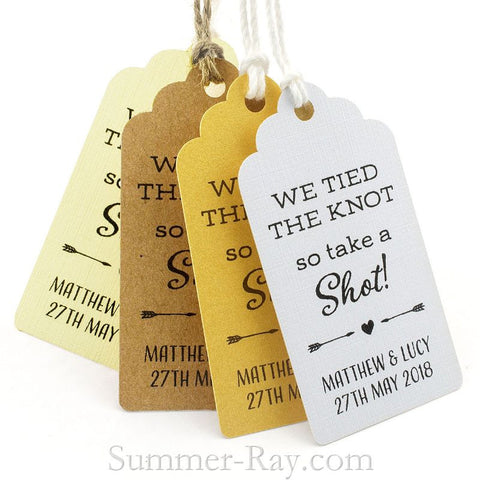 Personalized Tied the Knot Favor Tags