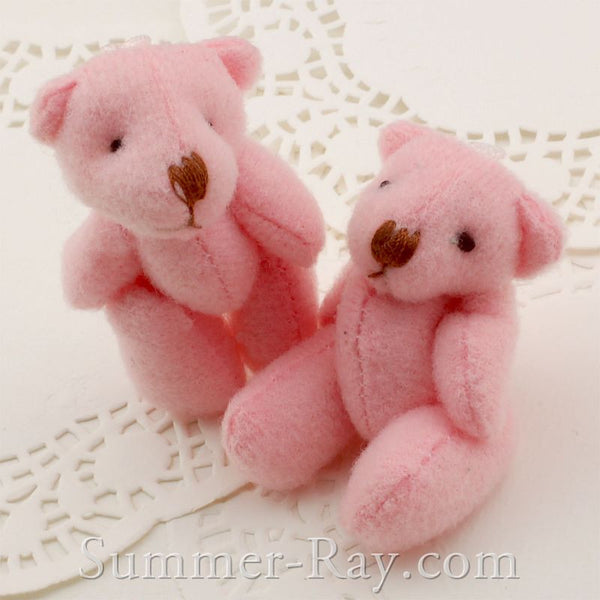 Mini Pink Teddy Bear 50 mm - 10 or 50 pieces