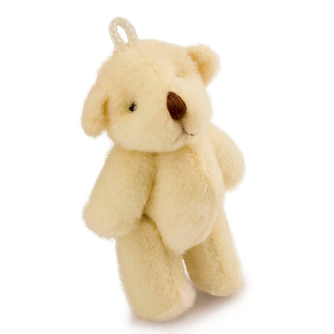 2.4 inches Mini Jointed Off White Teddy Bears