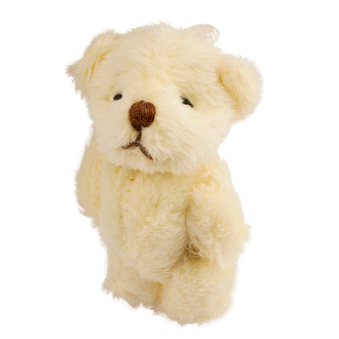 2.4 Inches Mini Jointed Fluffy Off White Teddy Bears