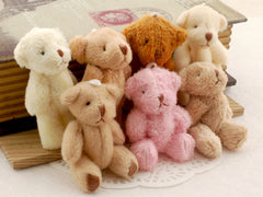 Mini Teddy Bear 60mm - 10 pieces
