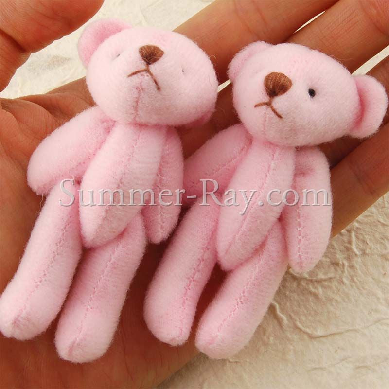 Mini Teddy Bear 70mm - 10 or 50 pieces