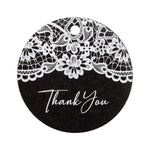 Round Thank You Favors Tags Wedding Gift Tags with White Printing
