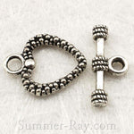 Tibetan Antique Silver Toggle Clasps