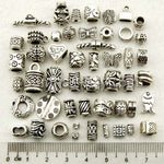 Tibetan Silver Spacer Beads Mixed Design