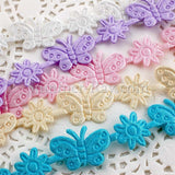 Butterfly Applique Ribbon Trim