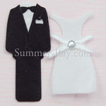 Tuxedo and Wedding Gown Fabric Embellishment - 25 or 100 pairs