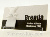 Personalized Tuxedo and Gown Place Card with Acrylic Stand - 20 to 120 pieces