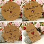 Personalized Vintage Lace Kraft Gift Tags / Favor Tags