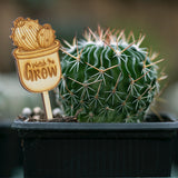 Mini Wooden Watch Me Grow Signs for Baby Shower Cactus/Succulent Favor