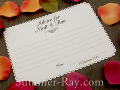 Personalized Wedding Advice White Card