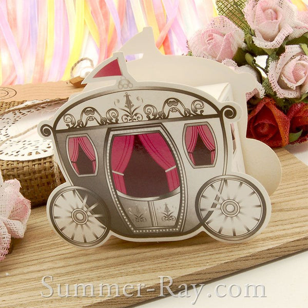 Cinderella Carriage Bomboniere Favor Boxes