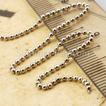 White Gold Plated Bead Chain