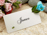 Place Card with Blue Calla Lilies