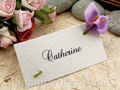 Place Card with Lavender Calla Lilies