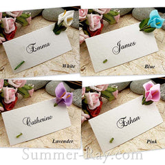 Place Card with Foam Calla Lilies