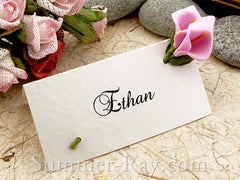 Place Card with Pink Calla Lilies