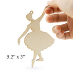 Wooden Silhouette Ballerina in 4 Poses Wooden Craft Piece 4""