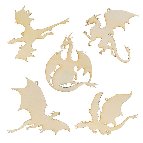 Wooden Dragon Laser Cutout DIY Craft Party Decoration Art Embellishment Room Decoration
