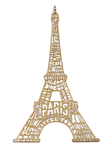 Wooden Monument Eiffel Tower Wood Craft Laser Cut France Paris Iconic Landmark Door Hanger