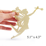 Wooden Fairy Laser Cutout DIY Craft Party Decoration Art Embellishment Room Decoration