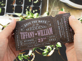 Personalized Wooden Save the Date Fridge Magnet My Big Day Ticket Wedding Invitation