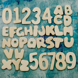 Miniature Wooden Alphabets and Numbers