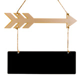 Wooden Arrow & Blackboard Hanging Plague Sign Wedding Housewarming Party