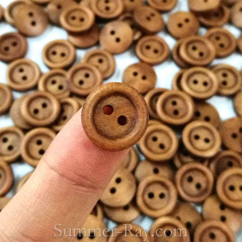2-Eye Wooden Buttons 10 mm