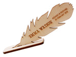 Personalized Wooden Feather Place Card