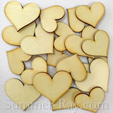 Laser Cut Out Wooden Hearts