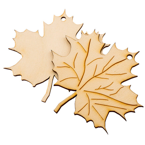 Laser Cut Wooden Maple Leaves Holiday Fall Theme Decoration