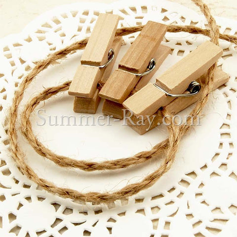 Wooden Peg with Jute Twine