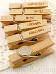 Wooden Peg Engraved Fridge Magnet 35 mm
