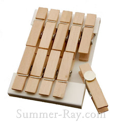 Wooden Peg with Magnet 35 mm