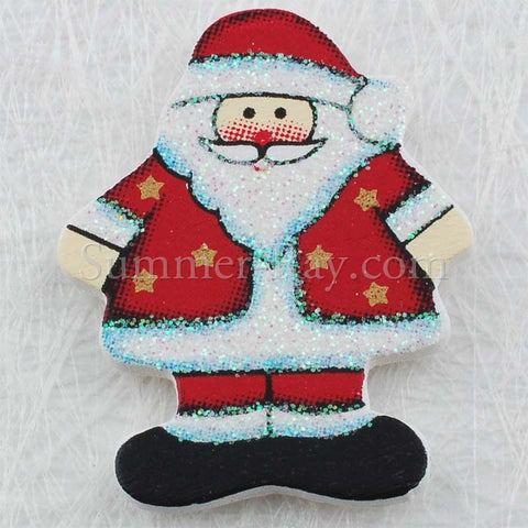 Wooden Santa Claus Embellishment