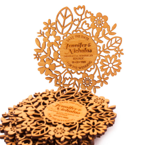 Personalized Wooden Wedding Save the Date Coaster Wedding Keepsakes Wedding Gift