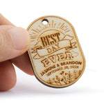 Personalized Wooden Best Day Ever Wedding/Bridal Shower Favor Gift Tags