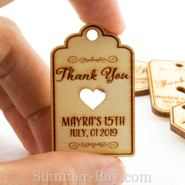 Personalized Unfinished Wooden Engraved Miniature Wedding
