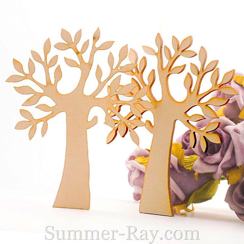 Laser Cut Out Wooden Tree Silhouette
