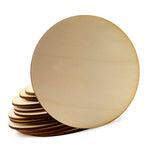 Wooden Round Unfinished Coaster for Home, Office, DIY Craft Project