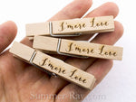 Wooden Peg Laser Engraved for Weddings and Parties