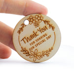 Round Wooden Thank You for Sharing Our Special Day Wedding Favors Tags Thank You Tags