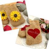 Hessian Burlap Small Drawstring Bag