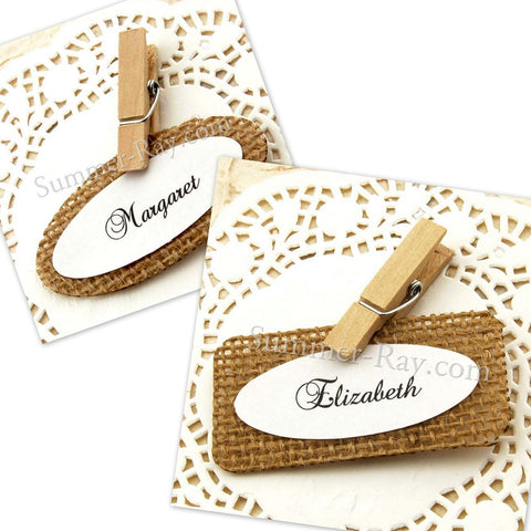 Personalized Burlap Place Cards