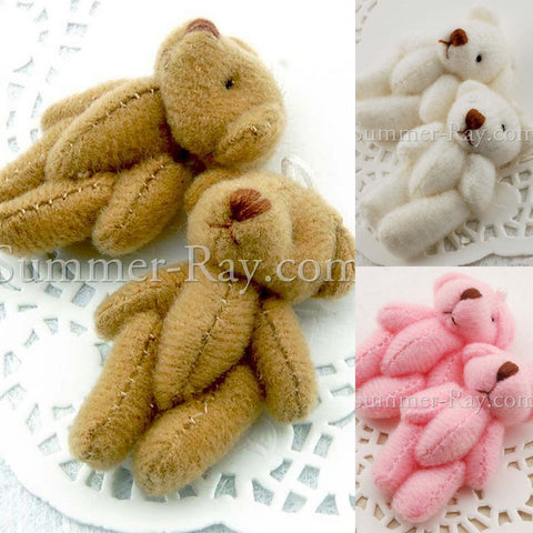 Mini Teddy Bear 40mm - 10 or 50 pieces