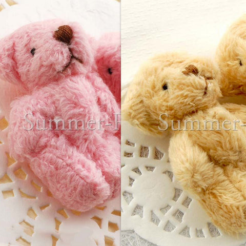 Mini Fluffly Teddy Bear 40mm - 10 or 50 pieces