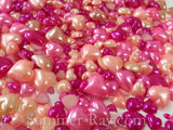 Pearl Heart Multi Size and Colors - 1200 pieces