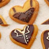 Cabochon Resin Bride and Groom Cookies
